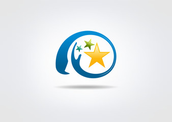 Star Healthy Brain vector logo design
