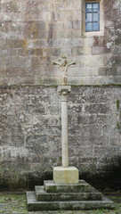 Stone Cross at the Cathedral of Tui, Galicia, Spain