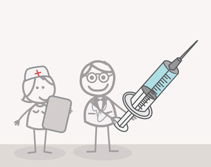 Doctor And Nurse Injection