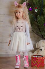 Blond Little Girl Showing Sad Face