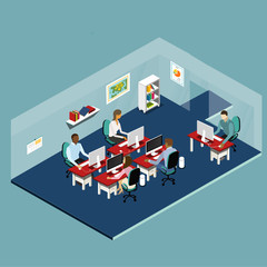 Isometric Office People