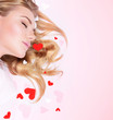 Romantic dreaming girl