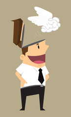 businessman discharge brain