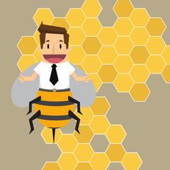 businessman worker bee