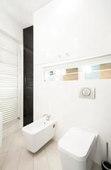 Toilet interior in hotel