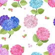 seamless texture with beauty flowers
