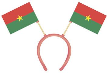 Witty headdress flags Burkina Faso