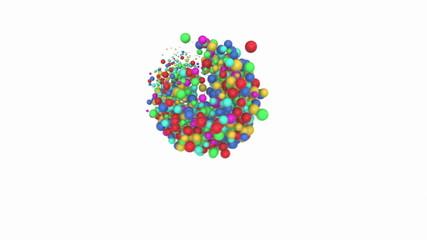 Colorful balls.Alpha matte