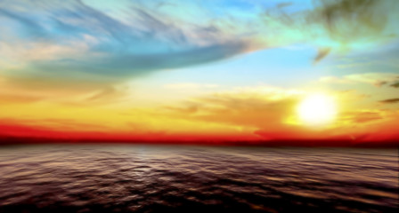 abstract sea and sky sunset