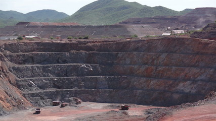 Industrial Mining Pit and Heap Leaching