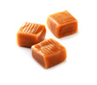 caramel candy  close-up on white background - 77206269