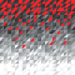 black and white background with red triangles