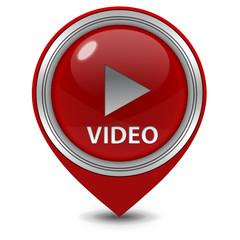 video pointer icon on white background