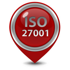 Iso 27001 pointer icon on white background