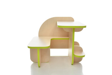 Small and colorful table desk for little child kids isolated