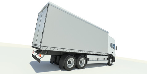 Truck back view illustration