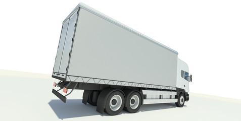 Truck back view illustration