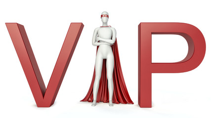 3d Illustration of vip (very important person) man. 3d rendering