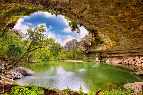 Fotobehang Meer Hamilton Pool sink hole, Texas, United States