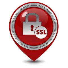 SSL pointer icon on white background