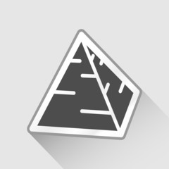Vector gray pyramid icon illustration