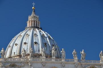 Saint Peter's Basilica Dome in Rome
