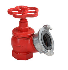 Red cast iron oblique  indoor fire hydrant valve with coupling