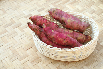 sweet potato in basket