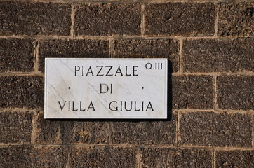 Piazzale di Villa Giulia in Rome