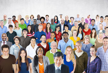 Large Group of Multiethnic People Community Variation Concept