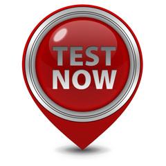 Test now pointer icon on white background