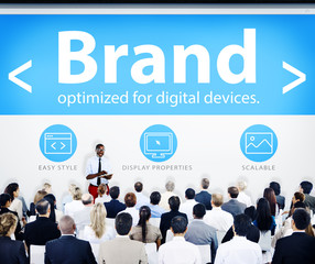 Business People Brand Branding Presentation Seminar Concept