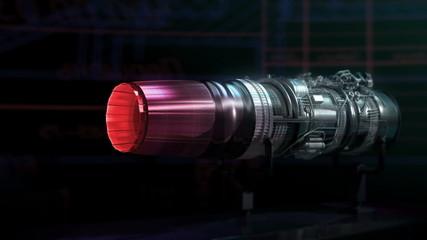 Turbojet Engine Aerodynamics Thrust Test Black Jet