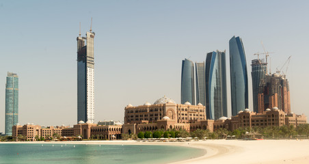 Abu Dhabi skyline under construction