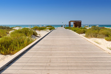 Stunning beachfront boardwalk