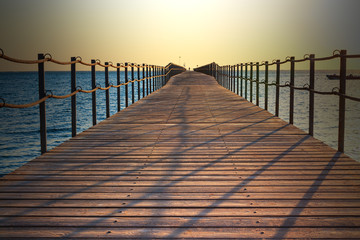 Pontoon in Sharm on the Red Sea