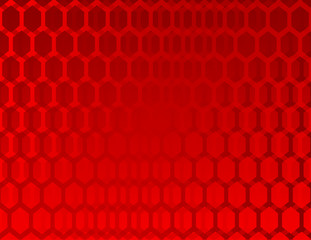 Abstract red background with hexagons template