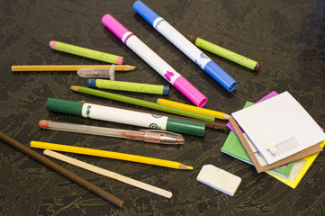 Pencils and felt-tip pens