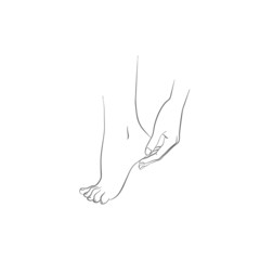 Hand and foot, body care vector illustration