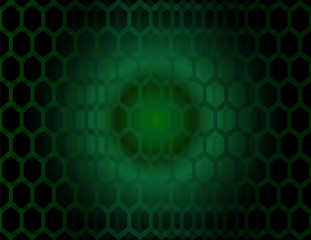 Abstract technology hexagon design  green circle background