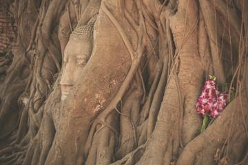 Head of Buddha at Wat Mahathat