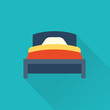 Vector bed icon FLAT - 77215282