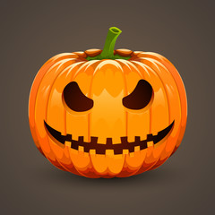 Pumpkin for Halloween on dark background
