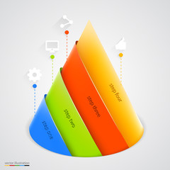 Vector pyramid infographic. Design template.