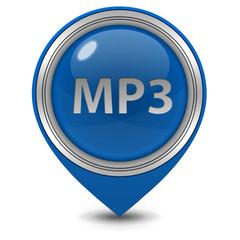 MP3 pointer icon on white background