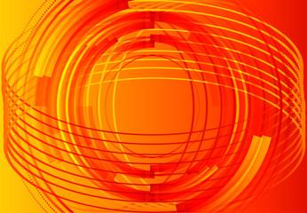 Hi-tech orange background template