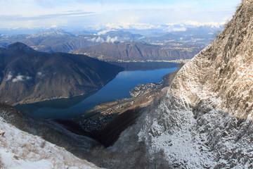 paesaggio dal monte Generoso