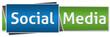 Social Media Green Blue Button Style