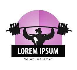 gym vector logo design template. Bodybuilding or sports icon.