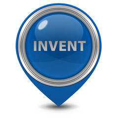Invent pointer icon on white background